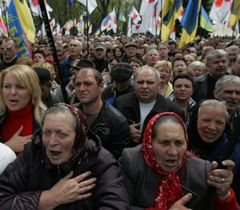 Мітинг опозиції під Верховною Радою. Київ, 24 квітня
