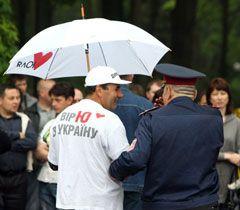 Під час мітингу опозиції біля Верховної Ради. Київ, 11 травня