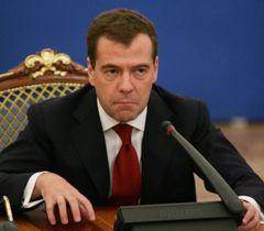 Дмитрий Медведев во время пресс-конференции в Киеве. 17 мая