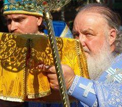 Патриарх Кирил перед началом освящения Спасо-Преображенского кафедрального собора в Одессе. 21 июля