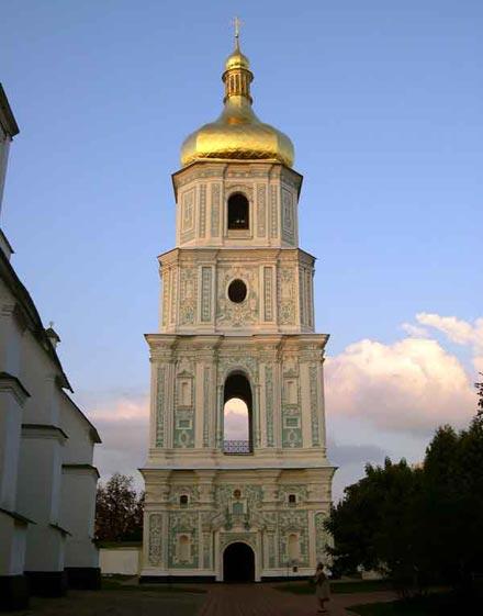 9. Дзвінниця та мури Софієвського монастиря у Києві(1699-1707)
