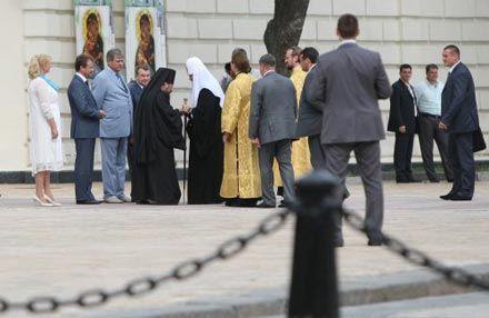 Патриарх Кирилл на Софиевской площади