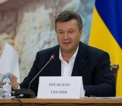 Виктор Янукович во время совещания по стратегическому развитию Крыма. 3 августа