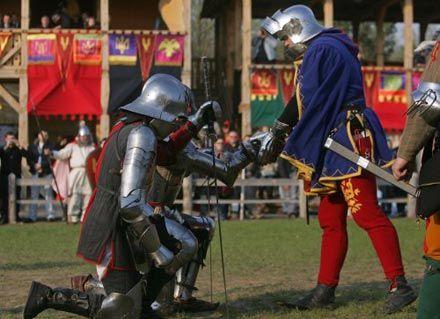 Участники рыцарского турнира