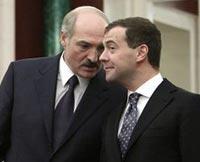 Лукашенко, Медведев