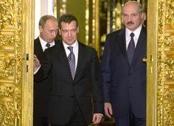 Путин, Медведев, Лукашенко