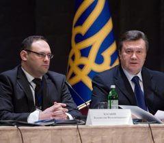 Владислав Каськів і Віктор Янукович під час засідання робочої групи «Національні проекти»