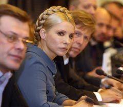 Юлия Тимошенко во время встречи с представителями предпринимателей, которые пикетировали ВР