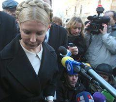 Юлія Тимошенко перед початком допиту в Генпрокуратурі. Київ, 29 грудня