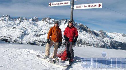 Николай Шимко и Владимир Рошко в Альпах. 15 января 2011