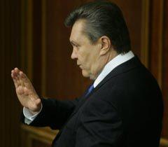 Виктор Янукович во время заседания ВР. Киев, 1 февраля