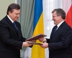 Виктор Янукович иі Бронислав Коморовский