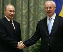 Азаров поблагодарил Путина