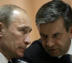 Владимир Путин и Михаил Зурабов во время встречи с Николаем Азаровым. Киев, 12 апреля