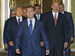 Медведев, Лукашенко, Назарбаев