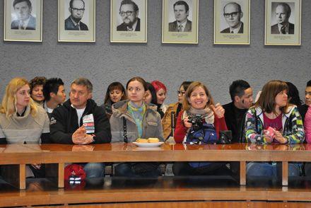 Українські студенти, абітурієнти і батьки на екскурсії в Сілезькому університеті у Катовіце