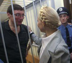 Юрий Луценко и Юлия Тимошенко во время судебного заседания в Печерском районном суде