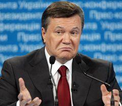 Віктор Янукович виступає під час прес-конференції в Києві. 8 липня