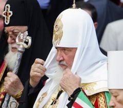 Патріарх Московський і Всієї Русі Кирил під час  молебну з нагоди дня пам'яті святого князя Володимира