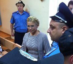 Юлия Тимошенко во время заседания Печерского районного суда. Киев, 11 августа