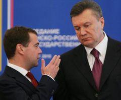 Янукович, Медведев