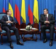 Дмитрий Медведев и Виктор Янукович во время встречи Донецке. 18 октября