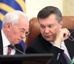 Виктор Янукович и Николай Азаров во время расширенного заседания Кабимина. Киев, 2 ноября