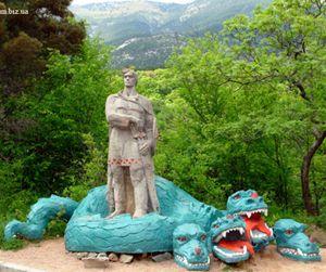Змій горинич у долині казок під ялтою