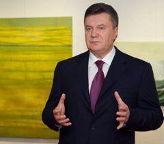 Віктор Янукович відповідає на запитання журналістів в Давосі. 26 січня