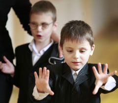 Дети с нарушениями зрения в школе-интернате в Киеве. 3 марта