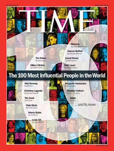 Обложка журнала Time, посвященного 100 самым влиятельным людям мира