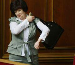 Новоизбранный Уполномоченный ВР по правам человека Валерия Лутковская в зале заседаний ВР. Киев, 24 апреля