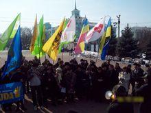 В Луганске провели митинг в поддержку Тимошенко