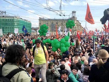 """""""Марш миллионов"""". Фото из микроблога Данилы Линдэле"""