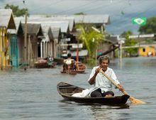 Наводнение в Бразилии. Фото с сайта «Новый Регион»