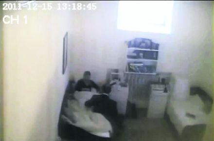 Кадр из видео, на котором якобы Тимошенко общается якобы с Власенко