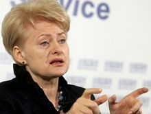 Даля Грибаускайте будет в Украине с рабочим визитом