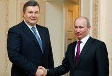 Віктор Янукович і Володимир Путін перед початком зустрічі в державній резиденції «Ново-Огарьово». 20 березня