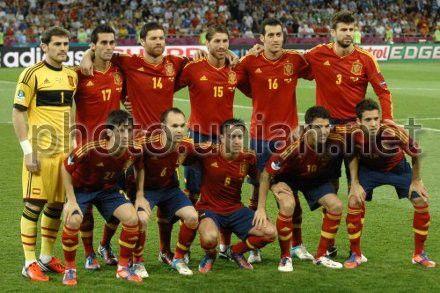 Сборная Испании - трехкратный чемпион Европы по футболу