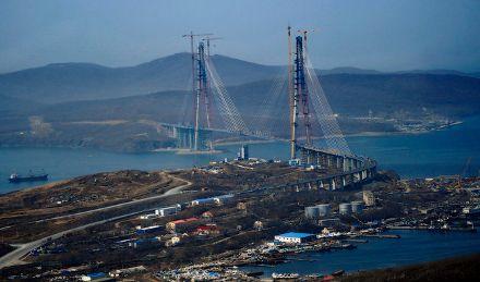 Владивосток. Мост на остров Русский, где пройдут основные мероприятия саммита АТЭС, фото c сайта zema.su