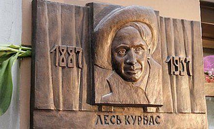 Памятная доска на здании Национального центра театрального искусства имени Леся Курбаса