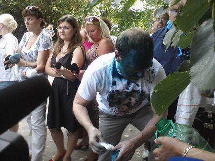 Сергей Власенко сразу после нападения, фото mediaport.ua