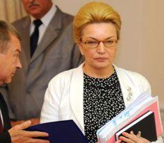 Раїса Богатирьова під час засідання Кабміну. Київ, 25 липня