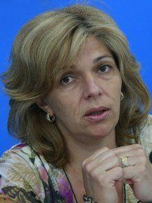 Ольга Богомолец на пресс-конференции, посвященной проведению в Украине всемирного Дня меланомы, в агентстве УНИАН