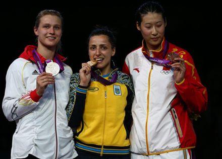 Яна Шемякина положила золотой почин Украины, фото НОК