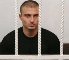 Обвиняемый в жестоком избиении Александры Александр Косинов в Ленинском райсуде Николаева. 14 августа