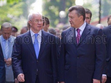 Mykola Azarov and Victor Yanukovych
