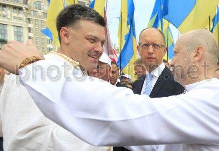 Оппозиция проводит митинг, посвященный 21-й годовщине Независимости Украины
