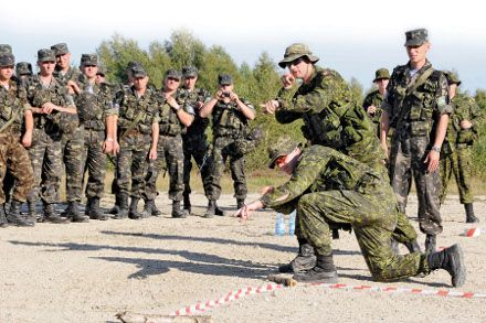 "Украинские десантники на учениях ""Кленовая арка"" в 2011 г., фото с сайта МО Канады"
