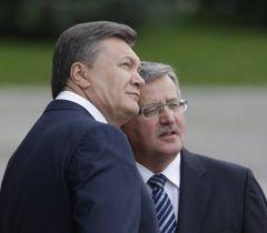 Віктор Янукович та  Броніслав Коморовський під час зустрічі в рамках Державного візиту Президента Польщі в Україну